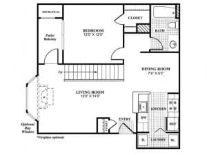 1 Bed / 1 Bath / 769 - 778 / Availability: Please Call / Deposit: $750 / Rent: $1,499