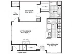 1 Bed / 1 Bath / 838 sq ft / Availability: Please Call / Deposit: $750 / Rent: $1,765