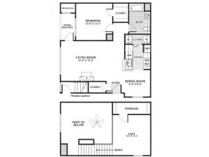 1 Bed / 1 Bath / 1,141 sq ft / Availability: Please Call / Deposit: $750 / Rent: $1,884