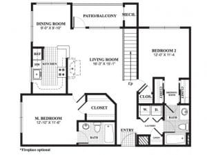 2 Bed / 2 Bath / 1,149 sq ft / Availability: Please Call / Deposit: $750 / Rent: $2,175
